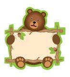 αντέξτε το σημάδι teddy διανυσματική απεικόνιση