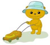 αντέξτε το χορτοκόπτη teddy απεικόνιση αποθεμάτων