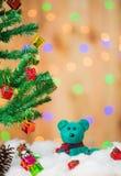 αντέξτε το δώρο κιβωτίων teddy Στοκ φωτογραφίες με δικαίωμα ελεύθερης χρήσης