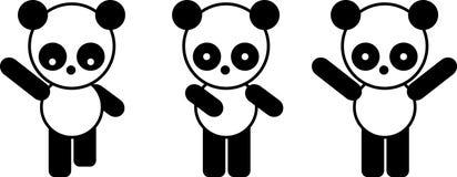 αντέξτε το panda Ελεύθερη απεικόνιση δικαιώματος
