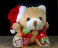 αντέξτε το santa Claus teddy Στοκ Φωτογραφίες