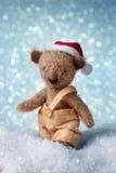 αντέξτε το santa teddy Στοκ φωτογραφία με δικαίωμα ελεύθερης χρήσης