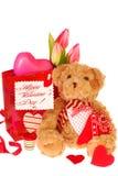 αντέξτε το teddy βαλεντίνο δώρων s Στοκ Εικόνες