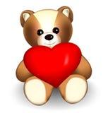 αντέξτε το teddy βαλεντίνο Στοκ εικόνες με δικαίωμα ελεύθερης χρήσης