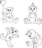 αντέξτε το teddy παιχνίδι σκίτσ&omeg ελεύθερη απεικόνιση δικαιώματος
