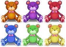 αντέχει ζωηρόχρωμο teddy ελεύθερη απεικόνιση δικαιώματος