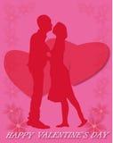 αντέχει κρατημένο βαλεντίνο αγάπης s χεριών χαιρετισμού ημέρας καρτών τον καρδιά ελεύθερη απεικόνιση δικαιώματος