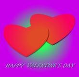 αντέχει κρατημένο βαλεντίνο αγάπης s χεριών χαιρετισμού ημέρας καρτών τον καρδιά διανυσματική απεικόνιση