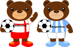 Αντέχει τη ομάδα ποδοσφαίρου Αγγλία Αργεντινή Στοκ Εικόνα
