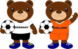 Αντέχει τη ομάδα ποδοσφαίρου Γερμανία Ολλανδία Στοκ Φωτογραφίες