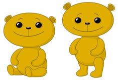 αντέχει τους φίλους teddy διανυσματική απεικόνιση