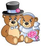 αντέχει το teddy γάμο διανυσματική απεικόνιση