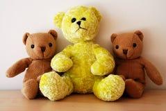 αντέχει teddy τρία Στοκ Φωτογραφία