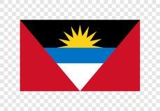 Αντίγκουα & Μπαρμπούντα - εθνική σημαία διανυσματική απεικόνιση