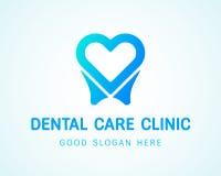 Αντίγραφο δόντι-καρδιά-λογότυπων Στοκ φωτογραφίες με δικαίωμα ελεύθερης χρήσης