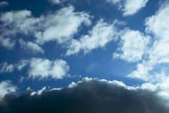 αντίθεση σύννεφων Στοκ φωτογραφία με δικαίωμα ελεύθερης χρήσης