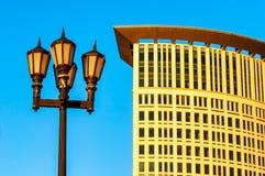 Αντίθεση του Κλίβελαντ παλαιά και σύγχρονη Στοκ φωτογραφία με δικαίωμα ελεύθερης χρήσης