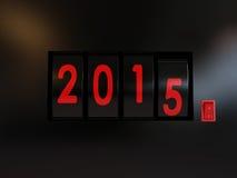 Αντίθετη στροφή του έτους 2015 Στοκ φωτογραφία με δικαίωμα ελεύθερης χρήσης