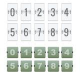 Αντίθετος αριθμός Flipboard Στοκ Εικόνες