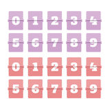 Αντίθετος αριθμός Flipboard Στοκ εικόνες με δικαίωμα ελεύθερης χρήσης