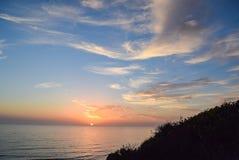 Αντίο ήλιος στην κρατική επιφύλαξη πεύκων Torrey στο Σαν Ντιέγκο Στοκ φωτογραφίες με δικαίωμα ελεύθερης χρήσης
