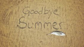 αντίο καλοκαίρι Στοκ Εικόνα