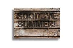 αντίο καλοκαίρι Στοκ Φωτογραφίες