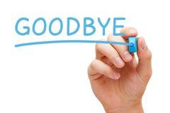 Αντίο μπλε δείκτης Στοκ Εικόνα