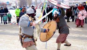 Αντίο στο χειμώνα Καρναβάλι Στοκ φωτογραφίες με δικαίωμα ελεύθερης χρήσης