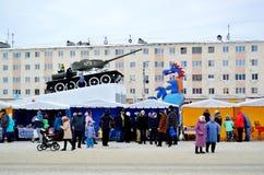 Αντίο στο χειμώνα Καρναβάλι Στοκ φωτογραφία με δικαίωμα ελεύθερης χρήσης