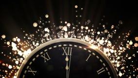 Αντίστροφη μέτρηση στα μεσάνυχτα με τα πυροτεχνήματα διανυσματική απεικόνιση