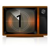 Αντίστροφη μέτρηση 1 στη TV Στοκ εικόνα με δικαίωμα ελεύθερης χρήσης