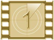 Αντίστροφη μέτρηση ταινιών Στοκ εικόνα με δικαίωμα ελεύθερης χρήσης