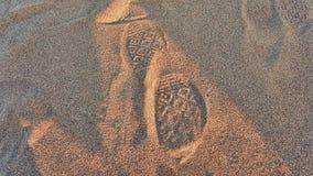 Αντίστροφο ίχνος άμμου στοκ εικόνα