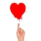 Αντίχειρας που δείχνει το κόκκινο στάλαγμα καρδιών διάνυσμα βαλεντίνων αγάπης απεικόνισης ημέρας ζευγών στοκ φωτογραφίες