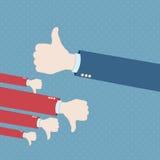 αντίχειρας χεριών επάνω ελεύθερη απεικόνιση δικαιώματος