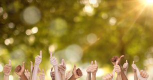Αντίχειρες επάνω στο πάρκο Στοκ φωτογραφία με δικαίωμα ελεύθερης χρήσης