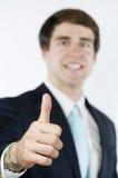 Αντίχειρες διευθυντών επάνω και χαμογελώντας στοκ εικόνα με δικαίωμα ελεύθερης χρήσης