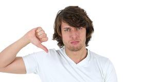 Αντίχειρες κάτω από το άτομο, άσπρο υπόβαθρο Στοκ φωτογραφία με δικαίωμα ελεύθερης χρήσης