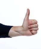 αντίχειρες που απομονώνονται επάνω στο άσπρο υπόβαθρο Στοκ εικόνα με δικαίωμα ελεύθερης χρήσης