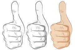 Αντίχειρες χεριών επάνω, περίληψη, γκρίζα και ζωηρόχρωμος-διανυσματική απεικόνιση Στοκ Φωτογραφία