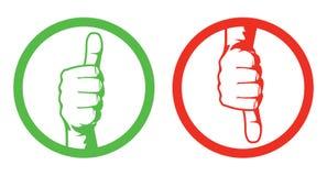 Αντίχειρες up/down ελεύθερη απεικόνιση δικαιώματος