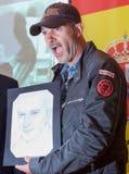 Αντίδραση του Antonio Banderas Στοκ εικόνα με δικαίωμα ελεύθερης χρήσης