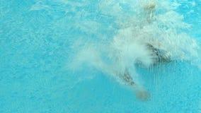 Ανταγωνισμοί κολύμβησης στη λίμνη απόθεμα βίντεο