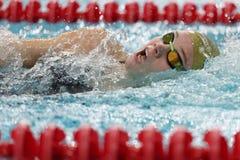 Ανταγωνισμοί κολύμβησης ύπτιου γυναικών στοκ φωτογραφίες με δικαίωμα ελεύθερης χρήσης