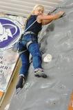Ανταγωνισμοί στην αναρρίχηση βράχου Στοκ Εικόνες