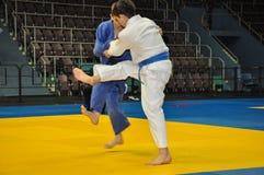 Ανταγωνισμοί στο τζούντο μεταξύ των νεώτερων 23.03.2013 Στοκ φωτογραφία με δικαίωμα ελεύθερης χρήσης