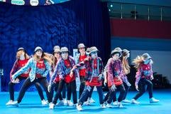 Ανταγωνισμοί των παιδιών «MegaDance» στη χορογραφία, στις 28 Νοεμβρίου 2015 στο Μινσκ, Λευκορωσία στοκ φωτογραφία