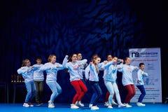 Ανταγωνισμοί των παιδιών «MegaDance» στη χορογραφία, στις 28 Νοεμβρίου 2015 στο Μινσκ, Λευκορωσία στοκ εικόνες