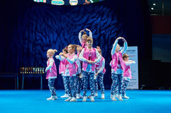 Ανταγωνισμοί των παιδιών «MegaDance» στη χορογραφία, στις 28 Νοεμβρίου 2015 στο Μινσκ, Λευκορωσία στοκ εικόνες με δικαίωμα ελεύθερης χρήσης